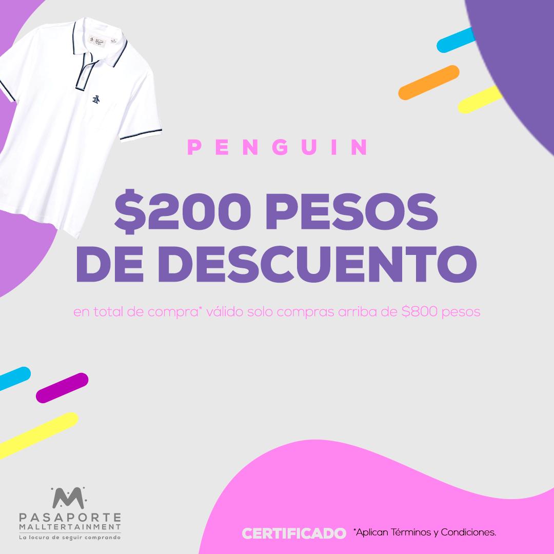 Certificado por $200 pesos de descuento en total de compra arriba de $800