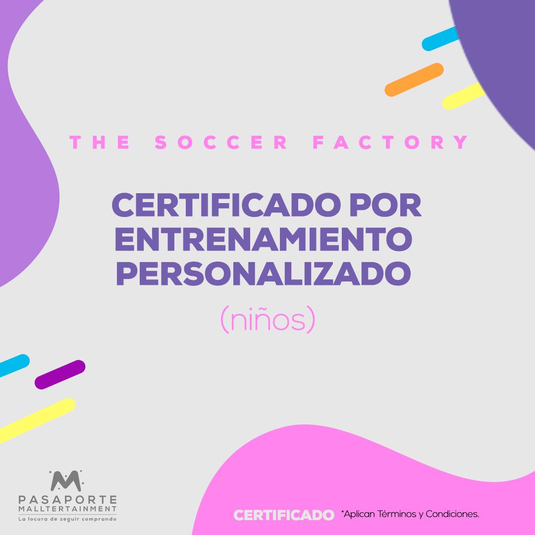 Certificado por entrenamiento personalizado para niño